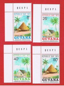 Guyana  #172-175   MNH OG  Republic Day  Free S/H