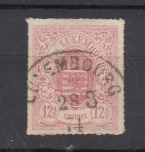 J25708 JLstamps 1865-74 luxembourg used #20-1 arms,2 scans