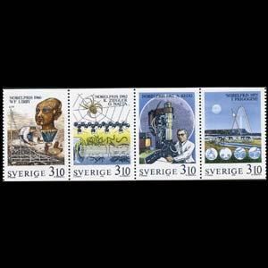 SWEDEN 1988 - Scott# 1709-12 Nobel Prize Set of 4 LH