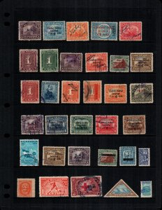 Nicaragua  30  different mint hinged and used