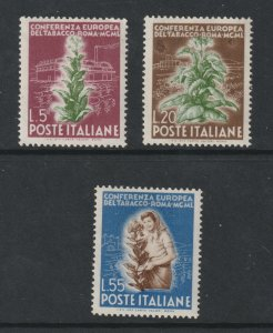 Italy the 1950 Tobacco Conference set MNH