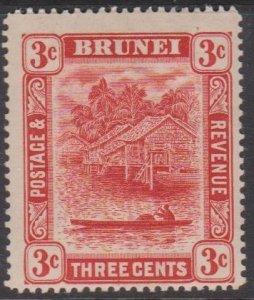 Brunei Sc#18a MH - tanned gum