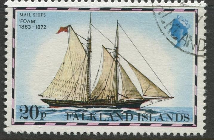 Falkland Is.- Scott 270 - Ships Issue - 1978 - VFU - Single 20p Stamp