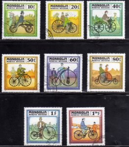 MONGOLIA 1982 HISTORIC BICYCLES BICICLETTE STORICHE COMPLETE SET SERIE COMPLE...