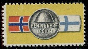 NORWAY WWII Legion Stamp, og, NH