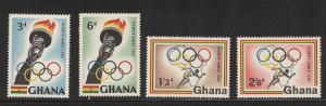Ghana 1960 Olympic set mnh sc 82 - 85