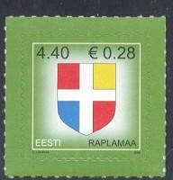 Estonia Sc 552 2006 Arms Euro added stamp  NH