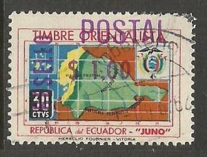 ECUADOR 780 VFU MAP S533-4