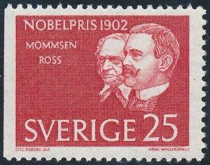 Sweden 1962 25ore Nobel Prize Winners of 1902 SG458 MNH 2