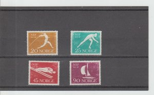 Norway  Scott#  389-392  MH  (1961 Norwegian Sports Federation)