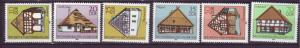J14257 JLstamps 1981 DDR mnh set #2199-04 frame houses