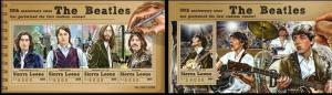 Sierra leone 2015 famous persons music the beatles klb+s/s MNH