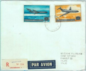 86150  -  BURUNDI  - Postal History -  FDC COVER 1987 airplanes AVIATION