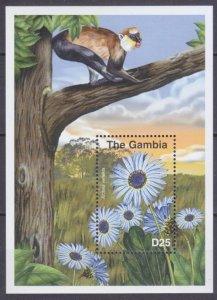 2001 Gambia 4236/B539 Flowers / Monkeys 5,50 €