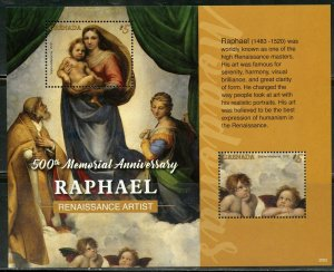 GRENADA 2020  500th MEMORIAL ANNIVERSARY OF RAPHAEL SOUVENIR SHEET MINT NH