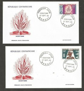 1965 Central African Republic Boy Scouts fire FDC
