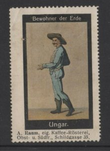 Germany- Inhabitants of Earth Series, Man in Hungarian Costume - NG