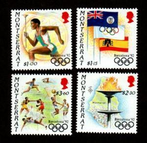 Montserrat 795-798 Mint NH MNH Barcelona 92 Olympics!