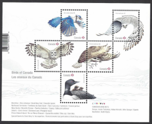 Canada #3017 MNH ss, birds, issued 2017