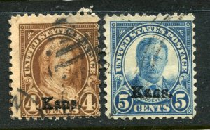 1929 issue #662, 663,  KANS OVPTS