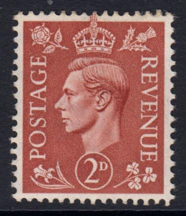 GB KGVI 1950 2d Pale Red-Brown SG506 Mint Hinged