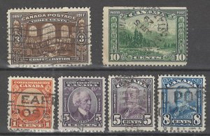 COLLECTION LOT # 4521 CANADA 6 STAMPS 1917+CV+$21
