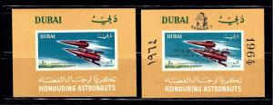 Dubai Two Space S/S; one with overprint; one without overprint; not listed