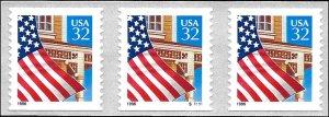 2915B Mint,OG,NH... Plate Number Coil of 3