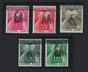 Algeria Postage Due stamps of France Handstamped overprints EA ' 5v SG#D391-D395