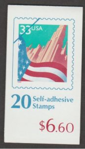 U.S. Scott #3279a BK276 American Flag over City Stamp - Mint NH Booklet