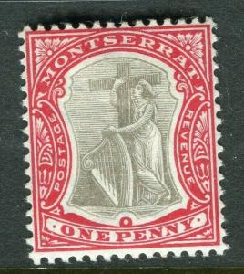 MONTSERRAT; 1903 early Ed VII issue fine Mint hinged 1d. value