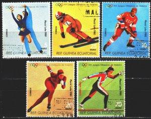 Equatorial Guinea. 1978. 1308-12. Lake Placid, Winter Olympics. USED.