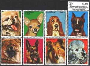 Paraguay. 1975. 2655-62. Dogs. MVLH.