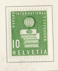 Switzerland Helvetia 1958 Early Issue Fine Mint Hinged 10c. NW-170866