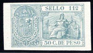 Puerto Rico, 1898, 50 C., Impresed Duty, Allegories, #77, MNG
