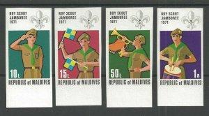 1972 Maldive Islands Boy Scouts World Jamboree IMPERF