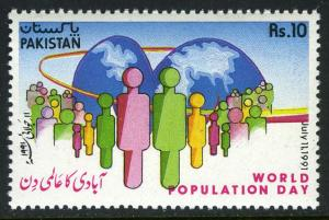 Pakistan 746, MNH. World Population Day, 1991