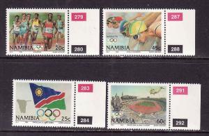 D1-Namibia-Scott#718-21-Unused NH set-Sports-Olympics-Barcel