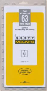 Prinz Scott Stamp Mount 63/240 CLEAR Background Pack of 10