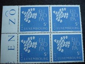 Europa 1961 - Luxembourg - Set - Mint Blocks of 4