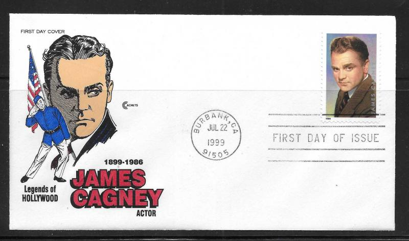 USA 3329 James Cagney Legends of Hollywood Cachet Craft FDC (JC24)