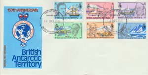 British Antarctic Territory Scott 76-81 Unaddressed.