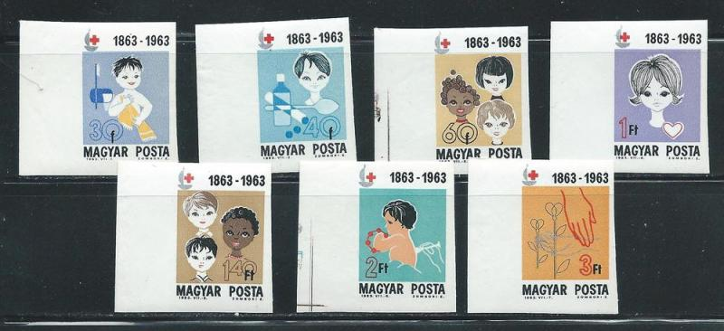 Hungary 1532-8 1963 Red Cross set IMPERF MNH