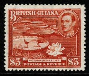 BRITISH GUIANA SG319a 1946 $3 BRIGHT RED-BROWN MTD MINT