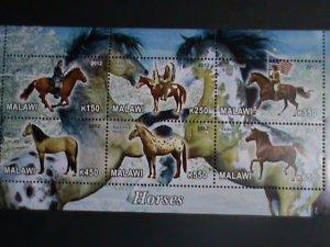 Malawi Stamp:2012-Beautiful Horses MNH Stamp sheet-