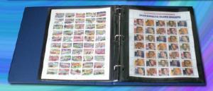 Supersafe Deluxe Mint Sheet File Album / Book 100 Sheet Capacity BLUE