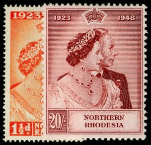 NORTHERN RHODESIA SG48-49, COMPLETE SET, LH MINT. Cat £90. RSW
