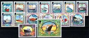Guernsey #640-9, 652-7, 663  MNH CV $27.00 (X1412)