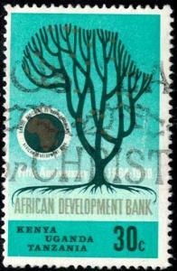 Euphorbia Tree, African Development Bank, Tanganyika stamp SC#205 Used