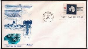 SC#1431 8¢ Antarctic Treaty FDC (Fleetwood)